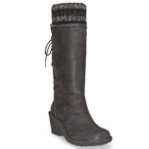 UGG Women's Black Sylair Leather Boots